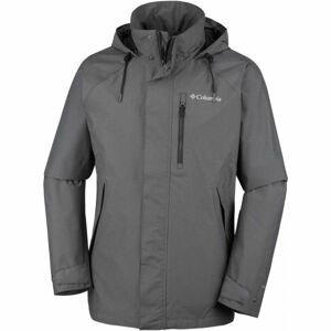Columbia GOOD WAYS II JACKET tmavě šedá S - Pánská outdoorová bunda