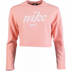 Nike NSW CREW CROP WSH růžová 2XL - Dámská mikina
