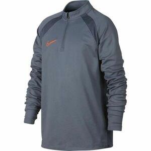 Nike DRY ACDMY DRIL TOP SMR šedá M - Chlapecké sportovní tričko