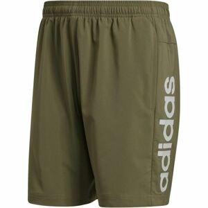 adidas E LIN CHELSEA tmavě zelená L - Pánské kraťasy