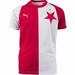 Puma SK SLAVIA REPLIC KIDS bílá 116 - Dětský fotbalový dres