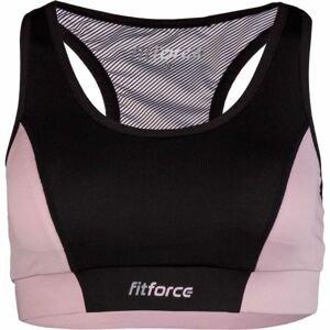 Fitforce PIRA růžová XS - Dámská fitness podprsenka