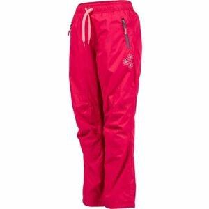 Lewro MILAN růžová 140-146 - Dětské zateplené kalhoty