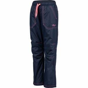 Lewro ZOWIE růžová 140-146 - Dětské zateplené kalhoty