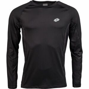 Lotto BLAKE černá XL - Pánské triko s dlouhým rukávem