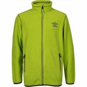 Umbro JACK zelená 140-146 - Chlapecká fleecová mikina