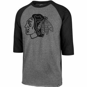 47 NHL CHICAGO BLACKHAWKS IMPRINT 47 CLUB RAGLAN TEE černá M - Pánské triko