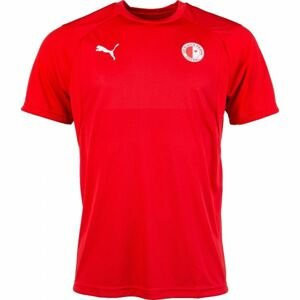 Puma LIGA TRAINING JSY SLAVIA červená M - Pánské sportovní triko