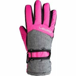 Lewro NALANI růžová 8-11 - Dětské lyžařské rukavice