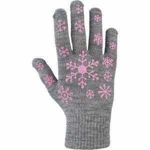 Lewro ARIADNA šedá 4-7 - Dětské pletené rukavice