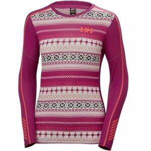 Helly Hansen LIFA ACTIVE GRAPHIC CREW růžová S - Dámské triko s dlouhým rukávem