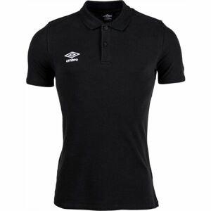 Umbro FW PIQUE POLO černá XL - Pánské polo triko