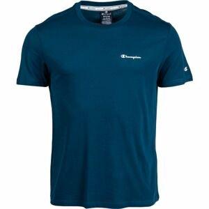 Champion CREWNECK T-SHIRT modrá S - Pánské tričko