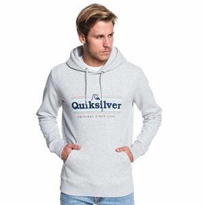 Quiksilver GET BUZZY SCREEN FLEECE šedá XL - Pánská mikina