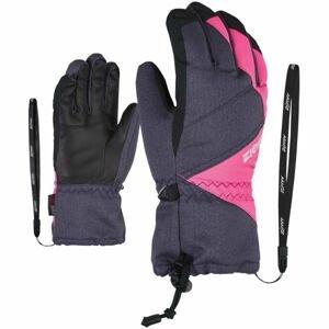 Ziener AGIL AS JR šedá 5.5 - Dětské rukavice