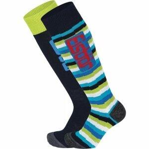 Eisbär COMFORT 2 PACK JR modrá 31-34 - Juniorské lyžařské ponožky
