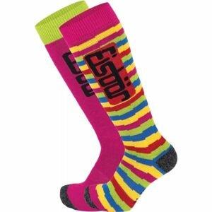 Eisbär COMFORT 2 PACK JR růžová 27-30 - Juniorské lyžařské ponožky