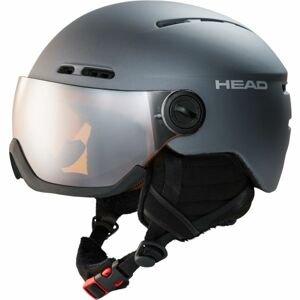 Head KNIGHT tmavě šedá (54 - 57) - Lyžařská helma