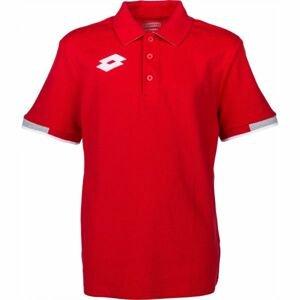 Lotto POLO DELTA JR červená XL - Chlapecké polo triko
