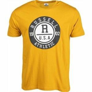 Russell Athletic S/S CREWNECK TEE SHIRT U.S.A. 1902 žlutá XL - Pánské triko