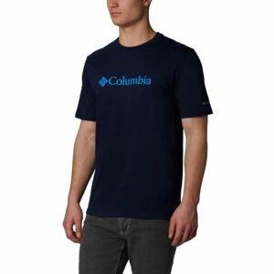 Columbia CSC BASIC LOGO SHORT SLEEVE tmavě modrá M - Pánské triko