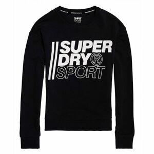 Superdry CORE SPORT CREW černá 10 - Dámská mikina