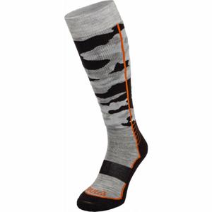 Bula CAMO SKI SOCKS šedá M - Lyžařské ponožky