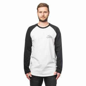 Horsefeathers PEAKS LS T-SHIRT bílá S - Pánské tričko