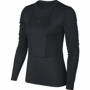 Nike NP PWARM HOLLYWOOD TOP W černá XS - Dámské triko s dlouhým rukávem