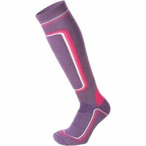 Mico HEAVY PRIMALOFT WOMAN SKI SOCKS W fialová S - Dámské lyžařské ponožky