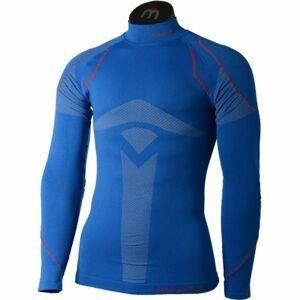 Mico LONG SLEEVES MOCK NECK SHIRT WARM SKIN modrá M-L - Pánské lyžařské spodní prádlo