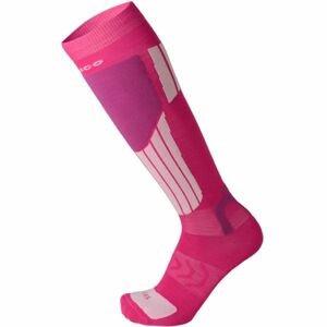 Mico LIGHT WEIGHT NATURAL MERINO SKI SOCKS růžová XXL - Lyžařské ponožky
