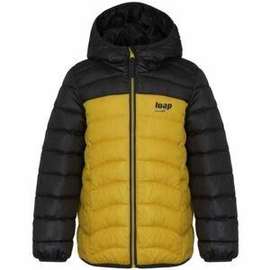 Loap INPETO žlutá 146-152 - Dětská bunda