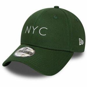 New Era 9FORTY NYC SEASONAL tmavě zelená UNI - Pánská klubová kšiltovka