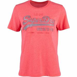 Superdry PINK LOGO růžová 12 - Dámské tričko