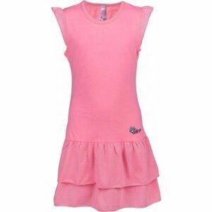 Lewro LASCO růžová 140-146 - Dívčí šaty s volány