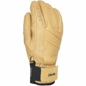 Level REXFORD béžová 8 - Celokožené rukavice