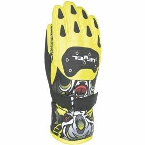Level DARK JR žlutá 5 - Voděodolné celozateplené dětské rukavice