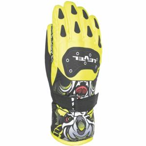 Level DARK JR žlutá 6 - Voděodolné celozateplené dětské rukavice