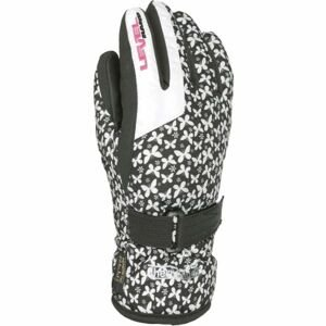 Level DARK JR bílá 3 - Voděodolné celozateplené dětské rukavice