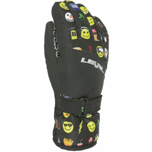 Level DARK JR černá 4 - Voděodolné celozateplené dětské rukavice
