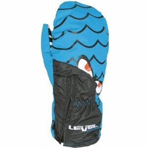 Level LUCKY MITT JR modrá 1 - Voděodolné celozateplené rukavice