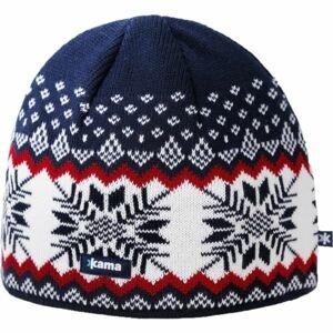 Kama A137-108 ČEPICE MERINO modrá UNI - Pánská pletená čepice