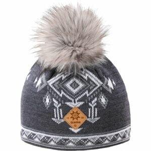 Kama A139-111 ČEPICE MERINO BAMBULE šedá UNI - Dámská pletená čepice