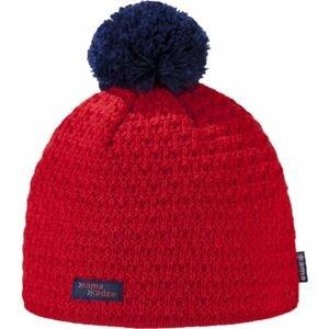 Kama K36-104 ČEPICE MERINO BAMBULE červená L - Dámská pletená čepice