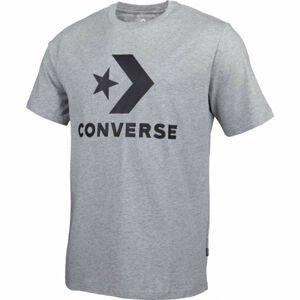 Converse STAR CHEVRON TEE šedá S - Pánské tričko