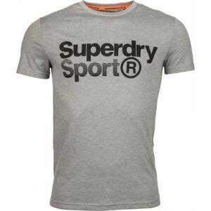 Superdry CORE SPORT GRAPHIC TEE šedá S - Pánské tričko