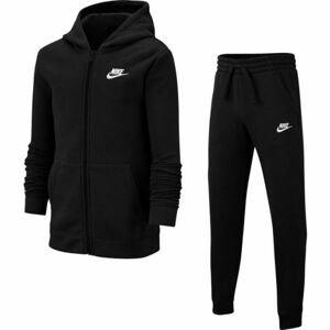 Nike NSW TRK SUIT CORE BF B černá M - Chlapecká tepláková souprava