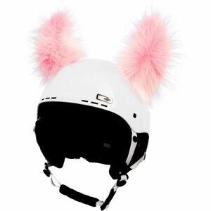 Crazy Ears YETI růžová NS - Uši na helmu