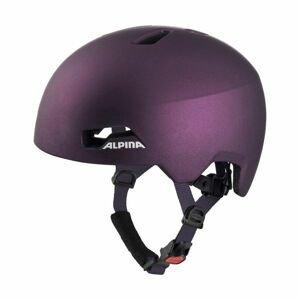 Alpina Sports HACKNEY fialová (47 - 51) - Dětská cyklistická helma